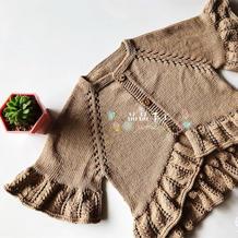 小夏荷 云棉2婴幼儿棒针荷叶边开衫