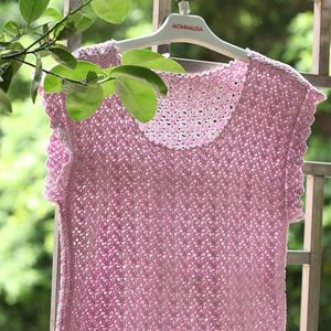 5号蕾丝编织儿童钩针短袖T