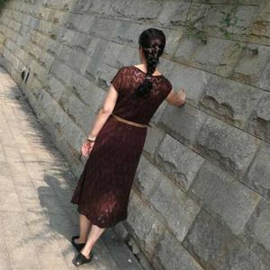 红菲  女士长袖毛衣改版棒针短袖长裙奔驰娱乐