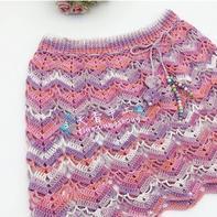 花香 可以编织亲子款的儿童钩针半身裙