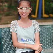 不用穿打底的云素花染钩机结合儿童短袖 快乐编织机LK150编织作品