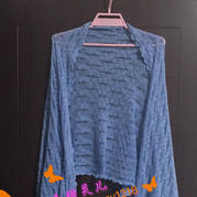 简约空调披 LK150编织机机织女士镂空蕾丝披肩