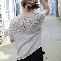 可棒针织可机织的云系花染宽松直编款夏衣