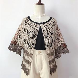 送母亲的礼物 女士春夏编织钩针菠萝开衫