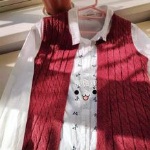 红绡  送奶奶的女士棒针开衫背心
