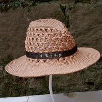 情迷巴拿马 男女都适合的钩针夏季棉草帽
