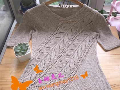 斜阳 LK150机织女士棒365彩票网斜纹镂空花短袖衫
