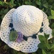 日本棉草密斯钩针太阳帽