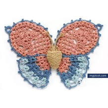 可以做装饰也可以做为夏衣元素中的美丽蝴蝶钩法