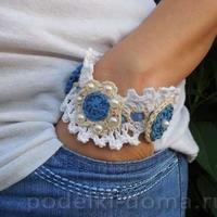 用彩色纱线打造夏日风情  各式风格手饰钩针编织