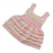 粉嫩蛋糕裙 儿童钩针蕾丝背心裙