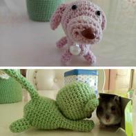 送给孩子们的礼物  萌可爱毛线钩编猫猫狗狗编织图解