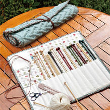 漂亮文艺范羊毛绞花纹棒针针包编织图解