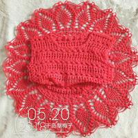 织小了也有办法 东拼西凑的女宝钩针菠萝花背心
