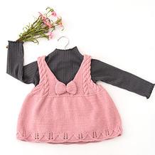 甜美可爱宝宝棒针背心裙编织视频教程(2-1)