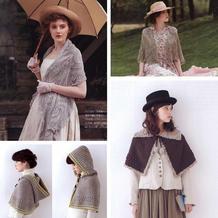 仙女们的四季复古风手工编织围披4款(菠萝披肩、孔斯特蕾丝围披与北欧风钩针斗篷)
