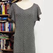 黑与白的碰撞 银笛SK280架空编织女士短袖连衣裙