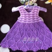 兒童鉤針鳳尾菠蘿背心裙
