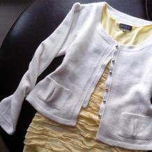 手工编织有公主线的精致小香风棒针开衫毛衣