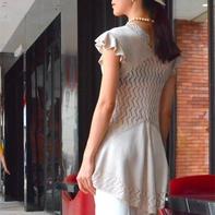 尚曦 家用编织机SK280机织温婉女士短袖燕尾修身长衫