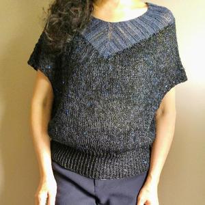 Chaika 从领口开始织的女士棒针V领宽松套衫