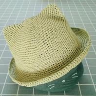 棉草拉菲钩针猫耳帽编织教程
