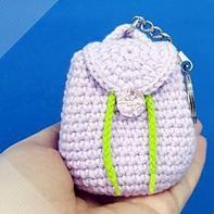 趣味毛线编织小物 钩针迷你小背包