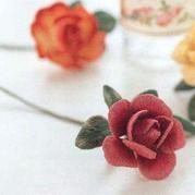 针线花卉 令人想跃跃欲试的立体化刺绣