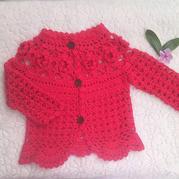 红胖胖之花朵宝宝钩针小开衫