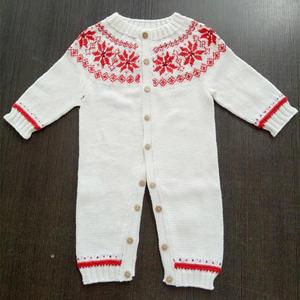 小确幸系列之三幼白  婴幼儿棒针提花连衣衣