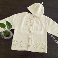 稚黄 简约实用婴幼儿棒针小开衫