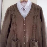 如山 给父亲织的棒针羊毛开衫外套毛衣