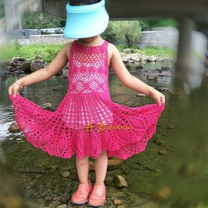 宝妈大爱的儿童钩针蕾丝大摆裙
