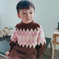暖暖 仿淘宝款男童棒针提花长袖毛衣
