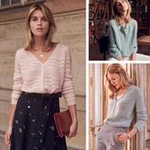 今秋毛衣颜色花样穿搭学习这一篇就够用  法式风情女士毛衣欣赏