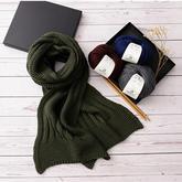 情書拼接款情侶棒針圍巾  適合新手學織的圍巾編織視頻教程