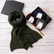 情书拼接款情侣棒针围巾  得当老手学织的围巾编织视频教程