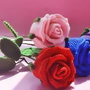 漂亮的酒杯玫瑰花 钩针立体玫瑰编织图解