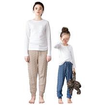 亲手编织一款亲子居家服 棒针麻花长裤编织图解