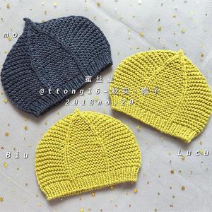 秋实 适合新手北京赛车的粗针织1-3岁棒针宝宝帽子