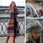 俄毛衣设计师实力演绎掌握多种手工技能是多么的有必要