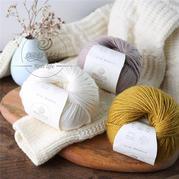 【亚博体育.云朗】可机洗的优美诺纯羊毛线中粗手工编织围巾棒针毛线