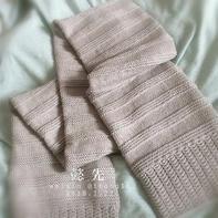 懿先 超级百搭男女通用棒针美丽诺羊毛围巾