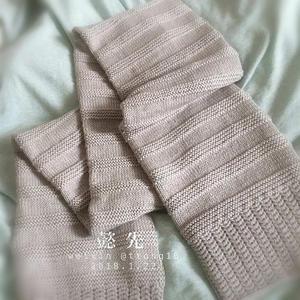 懿先 超級百搭男女通用棒針美麗諾羊毛圍巾