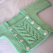 变装衣 构造独特的婴幼儿棒针外套毛衣