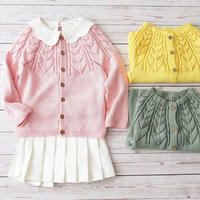 香蜜 从上往下织儿童棒针育克小开衫编织视频(3-1)镂空花小样编织