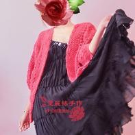 马海毛和服式女士横钩外套毛衣开衫