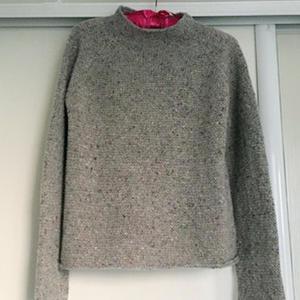 粗细针搭配还能这样织 有趣的女士毛衣织法