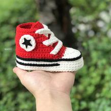 大牌鞋用毛线轻松copy  匡威宝宝毛线钩针运动鞋编织视频教程