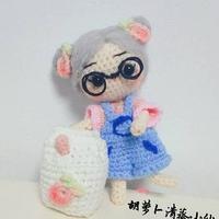 牛奶妹妹 转载微博的一款萌可爱钩针娃娃编织图解